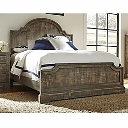 Meadow Complete Panel Bed in Weathered Grey