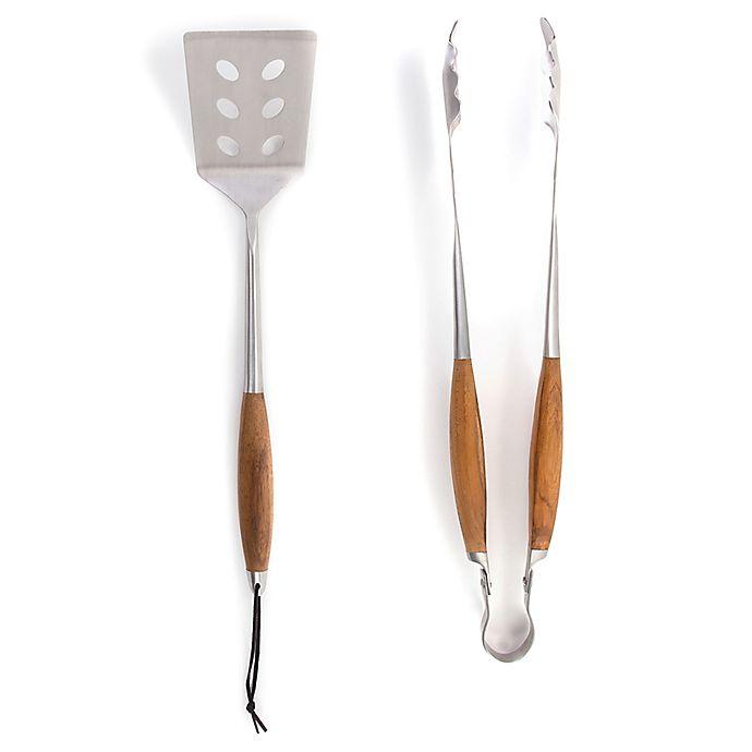 Alternate image 1 for Schmidt Brothers® Bonded Teak BBQ 2-Piece Grilling Tool Set