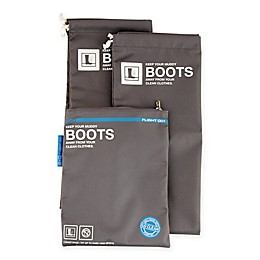 Flight 001 Travel Boot Bags in Grey (Set of 2)