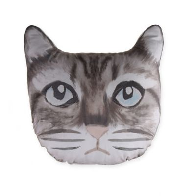 bed bath beyond pillows Cat Face Throw Pillow in Grey | Bed Bath & Beyond bed bath beyond pillows