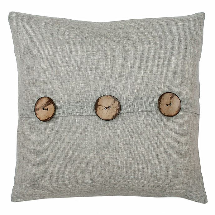Alternate image 1 for Chelsea Button Square Pillow in Silver