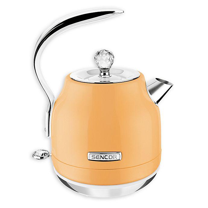 Alternate image 1 for Sencor® 1.5-Liter Cordless Electric Kettle with 360 Degree Swivel Base in Pastel Orange
