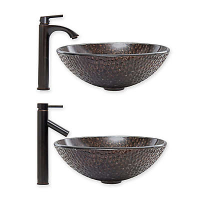 Vigo Copper Shield Vessel Sink and Faucet Set Collection
