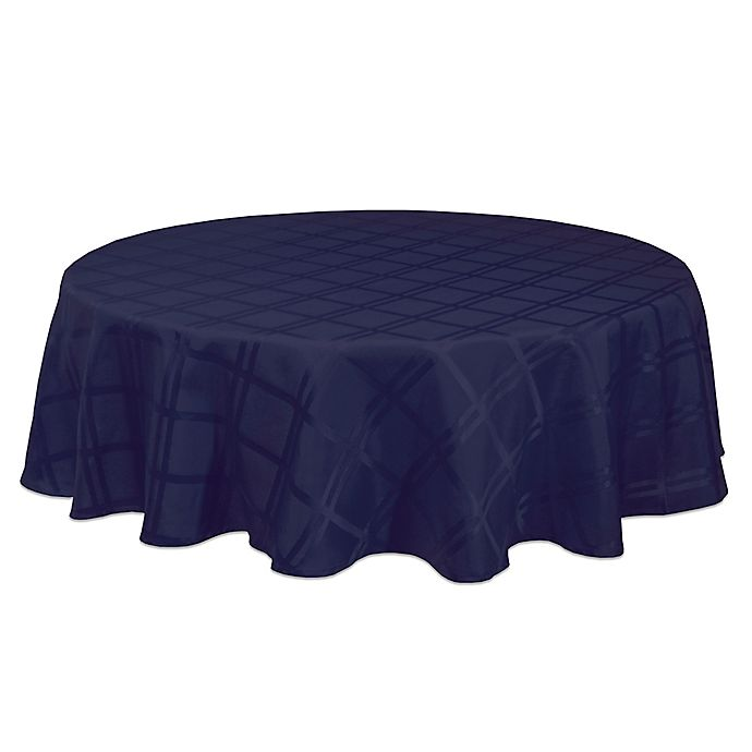 Alternate image 1 for Origins™ Microfiber 60-Inch Round Tablecloth in Ink