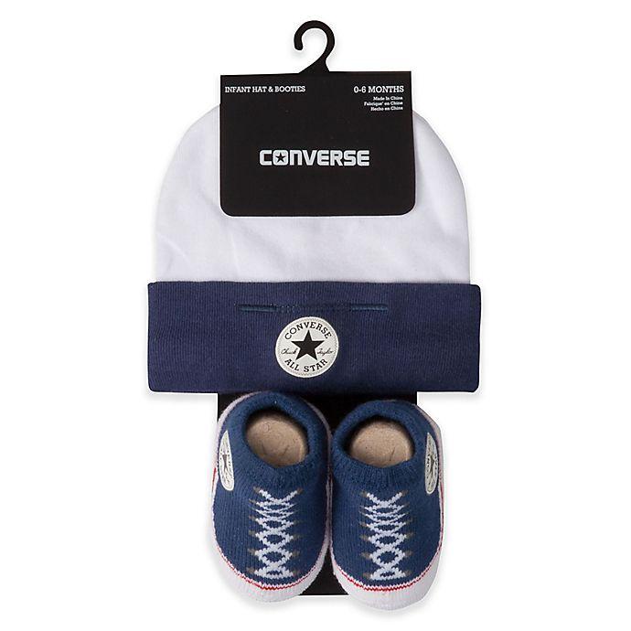 Converse Infant Hat & Booties Navy