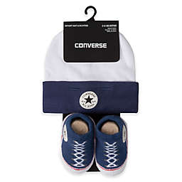 Converse Hat and Bootie Set in Navy