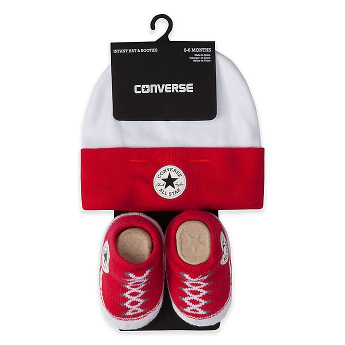 e99d62a0f65dc2 Converse Hat and Bootie Set in Red