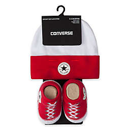 Converse Hat and Bootie Set in Red