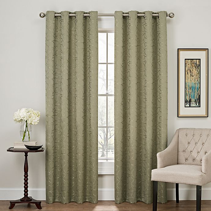 Alternate image 1 for Profile 84-Inch Grommet Top Window Curtain Panel in Green