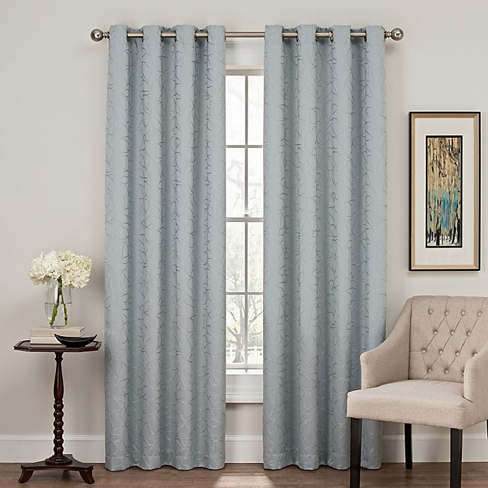 Alternate image 1 for Profile 63-Inch Grommet Top Window Curtain Panel in Blue