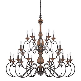 Quoizel Auburn 24-Light Chandelier in Rustic Black