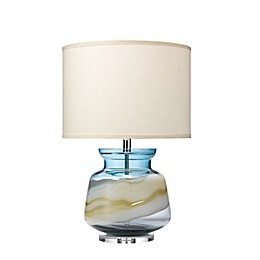 Ursula Table Lamp in Blue Glass