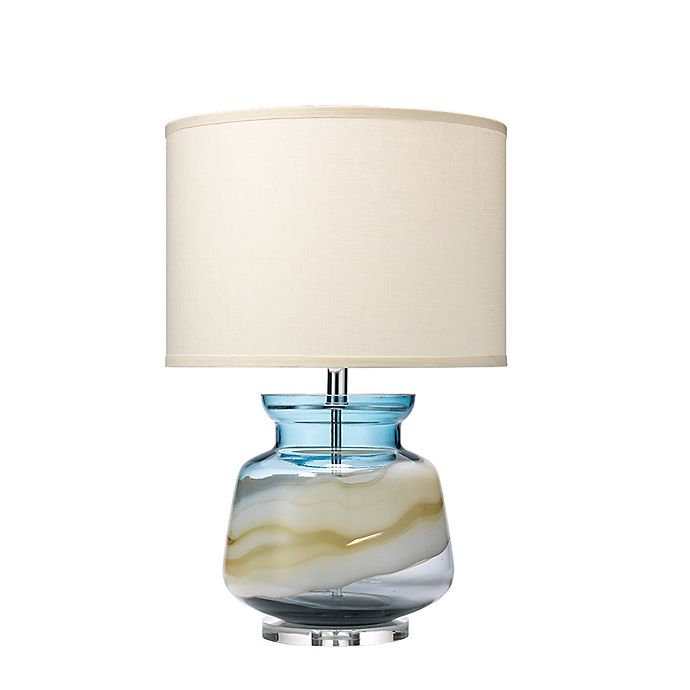 Alternate image 1 for Ursula Table Lamp in Blue Glass