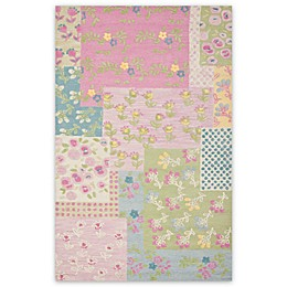 Safavieh Kids® Flowers Rug in Pink/Green