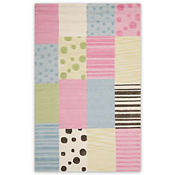 Safavieh Kids® Dots Stripes and Patches 8-Foot x 10-Foot Area Rug in Blue/Pink
