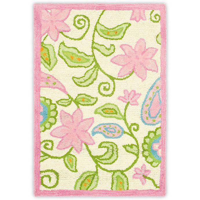 Alternate image 1 for Safavieh Kids® Floral Vine Rug in Ivory/Pink