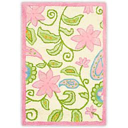 Safavieh Kids® Floral Vine Rug in Ivory/Pink