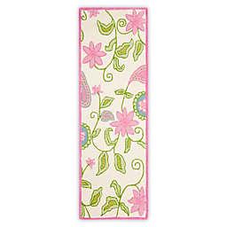 Safavieh Kids® Floral Vine 2-Foot 3-Inch x 9-Foot Runner in Ivory/Pink