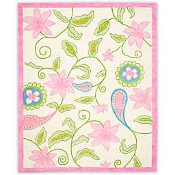 Safavieh Kids® Floral Vine 8-Foot x 10-Foot Area Rug in Ivory/Pink