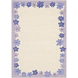 Safavieh Kids® Floral Border Rug in Ivory/Lavender