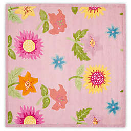 Safavieh Kids® Floral 7-Foot Square Area Rug in Pink