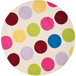 Safavieh Kids® Multicolor Dots 6-Foot Round Area Rug