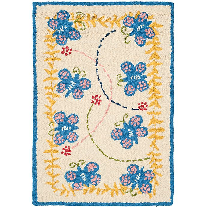 Alternate image 1 for Safavieh Kids® Butterfly 6-Foot x 9-Foot Area Rug in Ivory/Blue