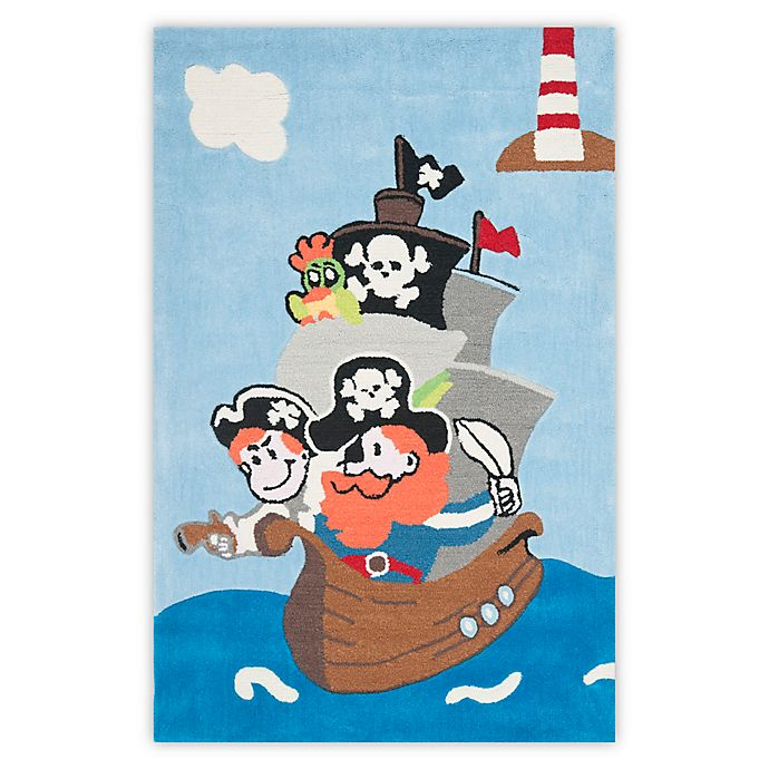 Alternate image 1 for Safavieh Kids Pirates 3-Foot x 5-Foot Areas Rug in Blue/Multi