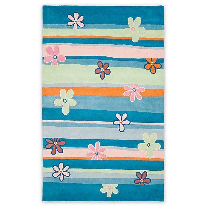 Alternate image 1 for Safavieh Kids® Daisy Stripes Rug in Blue/Multi