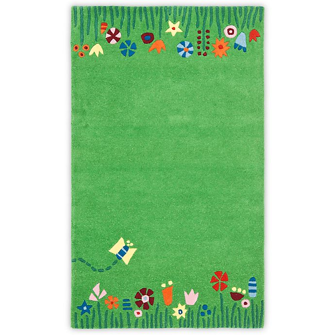 Alternate image 1 for Safavieh Kids Floral Border 6-Foot x 9-Foot Area Rug in Green