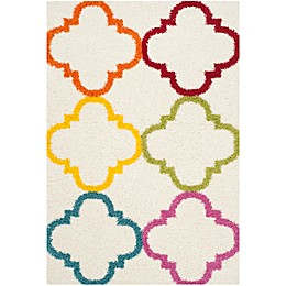 Safavieh Kids® Trellis Shag Rug in Ivory/Multi