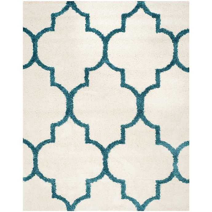 Alternate image 1 for Safavieh Kids Shag 8-Foot x 10-Foot Area Rug in Ivory/Blue
