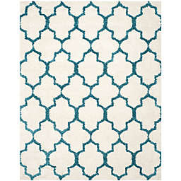 Safavieh Kids® Trellis Sketch 8-Foot 6-Inch x 12-Foot Shag Area Rug in Ivory/Blue