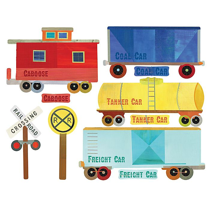 Alternate image 1 for Wallies Train Ride Peel & Stick Wall Decals