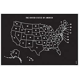Wallies U.S. Map Chalkboard Peel & Stick Wall Decal and Chalk Set