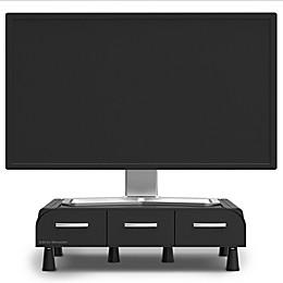 Mind Reader Perch Monitor Stand/Desk Organizer in Black