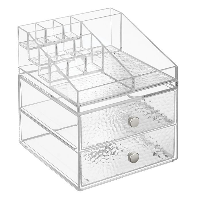 ca297238f3c6 iDesign® Vanity Organizer™ Rain 2-Drawer Cosmetic Organizer   Bed ...
