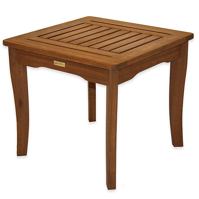 Alternate image 1 for Outdoor Interiors® Eucalyptus Outdoor End Table in Brown Umber