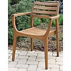Sensational Outdoor Interiors Eucalyptus Danish Stacking Chairs In Brown Umber Set Of 4 Lamtechconsult Wood Chair Design Ideas Lamtechconsultcom