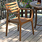 Surprising Outdoor Interiors Eucalyptus Danish Stacking Chairs In Brown Umber Set Of 4 Lamtechconsult Wood Chair Design Ideas Lamtechconsultcom