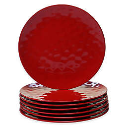 Certified International Melamine Dinner Plates in Red (Set of 6)
