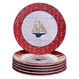 Certified International Nautique Melamine Salad Plates (Set of 6)