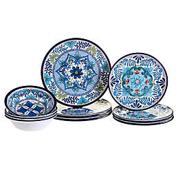 Certified International Talavera 12-Piece Melamine Dinnerware Set