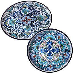 Certified International Talavera 2-Piece Serving Platter Set