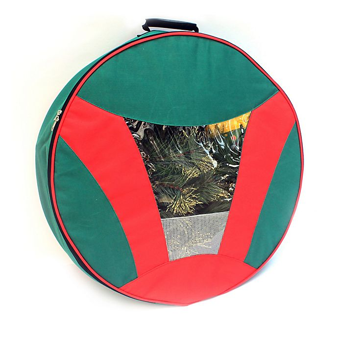 Alternate image 1 for Camerons 24-Inch Artificial Christmas Wreath Storage Bag in Red