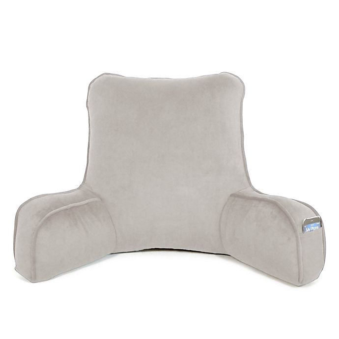 Alternate image 1 for Therapedic® Oversized Backrest Pillow in Grey