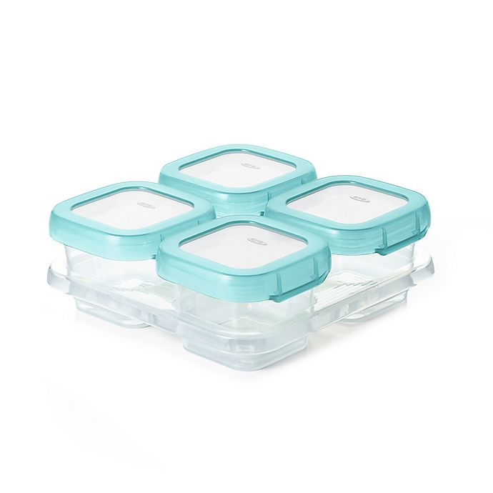 Alternate image 1 for OXO Tot® 4-Pack 4 oz. Baby Blocks Freezer Containers