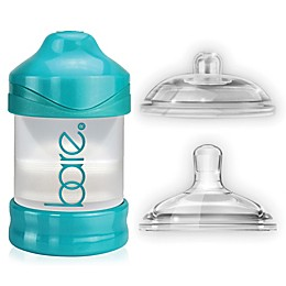 BARE® 4 oz. Polypropylene Air-Free Bottle w/Easy-Latch and Perfe-Latch Nipples in Turquoise