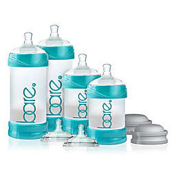 BARE® 4-Pack Polypropylene Air-Free Bottle Starter Set with Easy-Latch Nipples in Turquoise