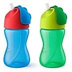 Philips Avent 2-Pack 10 oz. My Bendy Straw Cup in Blue/Green